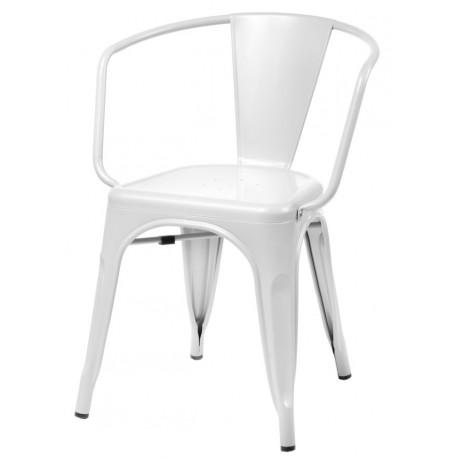 Krzesło Paris Arms białe inspirowane Tol ix