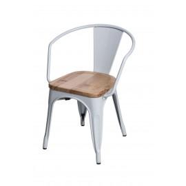 Krzesło Paris Arms Wood biały jesion