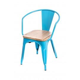 Krzesło Paris Arms Wood niebieski jesion