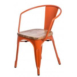 Krzesło Paris Arms Wood pomarańcz jesion