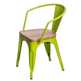 Krzesło Paris Arms Wood zie.jasn. jesion