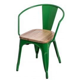 Krzesło Paris Arms Wood zielone sosna na turalna