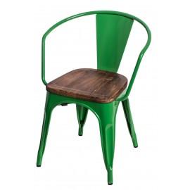 Krzesło Paris Arms Wood zielone sosna or zech