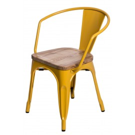 Krzesło Paris Arms Wood żółty jesion