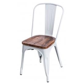 Krzesło Paris Wood białe sosna orzech
