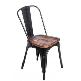 Krzesło Paris Wood czarne sosna orzech