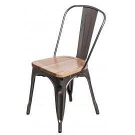 Krzesło Paris Wood metali. sosna natural
