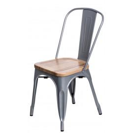 Krzesło Paris Wood szare sosna naturalna