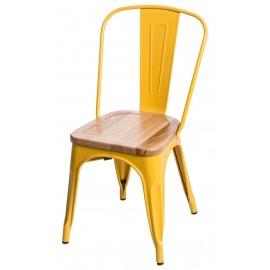 Krzesło Paris Wood żółte sosna naturalna