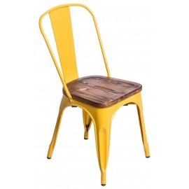 Krzesło Paris Wood żółty sosna