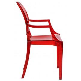 Krzesło Royal czerwony transparent