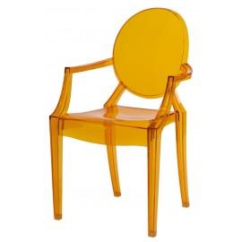 Krzesło Royal pomarańczowy transparentny