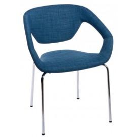 Krzesło Space tapicerowane granatowe