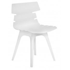 Krzesło Techno białe podstawa biała