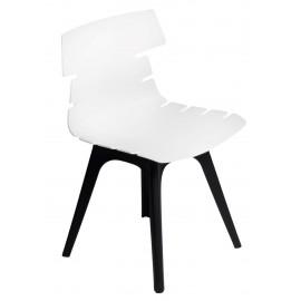 Krzesło Techno białe podstawa czarna
