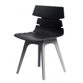 Krzesło Techno czarne podstawa szara