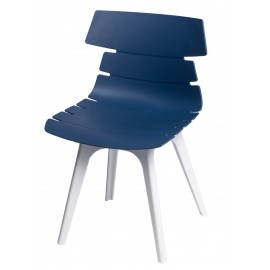 Krzesło Techno niebieskie podstawa biała
