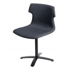 Krzesło Techno One tapicerowane grafitow