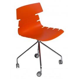 Krzesło Techno Roll pomarańczowe