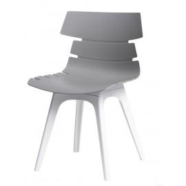 Krzesło Techno szare podstawa biała