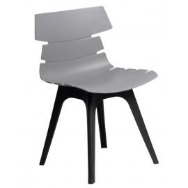 Krzesło Techno szare podstawa czarna