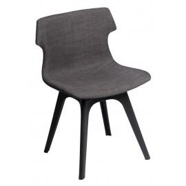 Krzesło Techno tapicerowane brązowe podstawa czarna