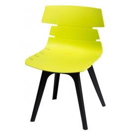 Krzesło Techno zielone podstawa czarna