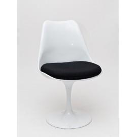 Krzesło Tul białe/czarna poduszka