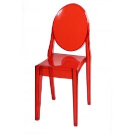 Krzesło Viki czerwony transp.