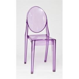 Krzesło Viki purple transp.