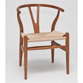 Krzesło Wicker Naturalne jasnobrązowe in spirowane Wishbone