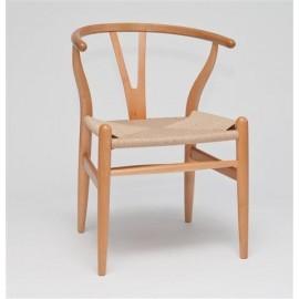 Krzesło Wicker inspirowane Wishbone natu ralne
