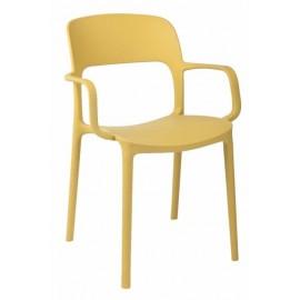 Krzesło z podłokietnikami Flexi oliwkowe