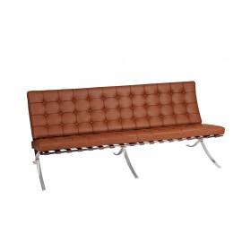 Sofa BA3 3 osobowa jasny brąz skóra naturalna