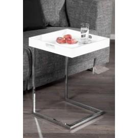 INVICTA stolik CIANO biały - zdejmowany blat chrom