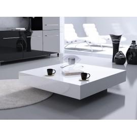 Stolik Small Quadrat 80 biały czarny 25