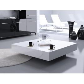 Stolik Small Quadrat 80 biały czarny 35