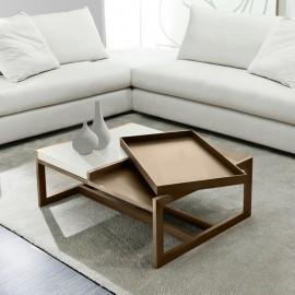 Stolik Tray Small beżowy biały