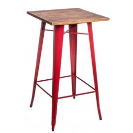 Stół barowy Paris Wood czerwony sosna