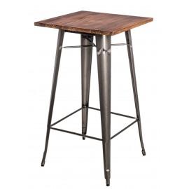 Stół barowy Paris Wood metal sosna orzec h