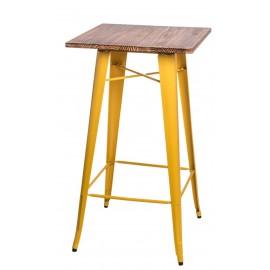 Stół barowy Paris Wood żółty sosna