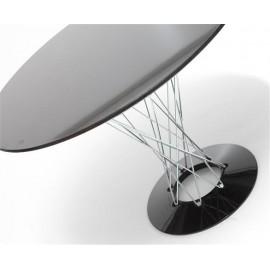 Stół Cyklon okrągły czarny