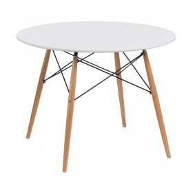 Stół DTW 100 cm blat biały