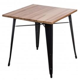 Stół Paris Wood czarny sosna naturalna