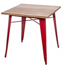 Stół Paris Wood czerwony sosna naturalna