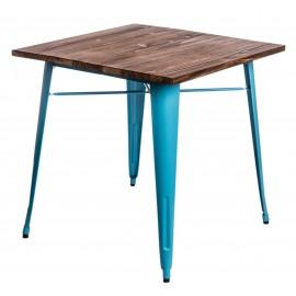Stół Paris Wood niebieski sosna