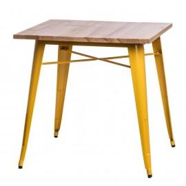 Stół Paris Wood żółty sosna naturalna