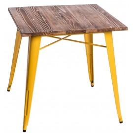 Stół Paris Wood żółty sosna orzech