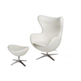 Fotel Jajo szeroki z podn. sk. eko 506 biały