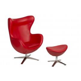 Fotel Jajo szeroki z podn. sk. eko 513 czerwony